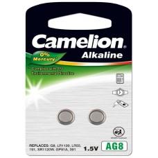 Pila Botón Alcalina LR55 1.5V 0% Mercurio (2 pcs) Camelion (Espera 2 dias)
