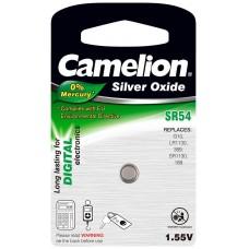 Boton Oxido plata SR54W 1.55V 0% Mercurio (1 pcs) Camelion (Espera 2 dias)