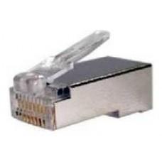 Conector RJ45 8 hilos FTP cat.6 (10und) (Espera 2 dias)