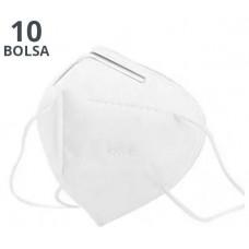 MASCARILLA KN95 PACK BOLSA 10u EN SOBRES INDIVIDUALES