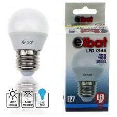Bombilla LED G45 6W 480LM E27 Luz Fría ELBAT (Espera 2 dias)
