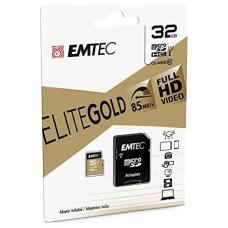 MEMORIA SD MICRO 32GB EMTEC ELITE GOLD 85MB/S SD +