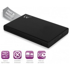 "CAJA EXT. HDD EWENT EW7044 2,5"" SATA USB3.1 NEGRA (Espera 4 dias)"
