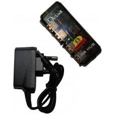 HUB USB 4 PUERTOS CON ALIMENTACION LL-UH-404L (Espera 5 dias)