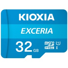 MICROSD KIOXIA 32GB EXCERIA UHS-1 C10 R100 ADAPTADOR (Espera 4 dias)