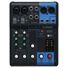 Yamaha MG06 mezclador DJ 6 canales Negro (Espera 4 dias)
