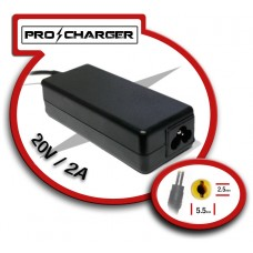 Carg. 20V/2A 5.5mm x 2.5mm 36w Pro Charger (Espera 2 dias)