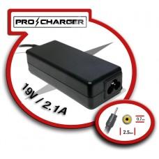 Carg. 19V/2.1A 2.5mm x 0.7mm 36w Pro Charger (Espera 2 dias)