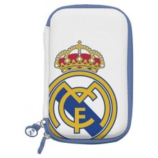 "Real Madrid Funda Disco Duro 3.5"" Blanca Escudo"