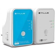 Talius redes PLC Kit AV500Mbps+AV300Mbps (1 wifi)