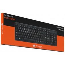 Talius - Teclado KB501 Confort - QWERTY - Conexion USB