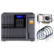 "QNAP TL-D1600S caja para disco duro externo Carcasa de disco duro/SSD Negro, Gris 2.5/3.5"" (Espera 4 dias)"