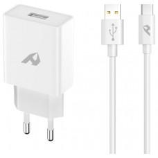 ADAPTADOR DE RED ENJOY 1 USB QC 30 5V/3A 9V/2A 12V/15A 18W MAX TIPO C 1M BLANCO
